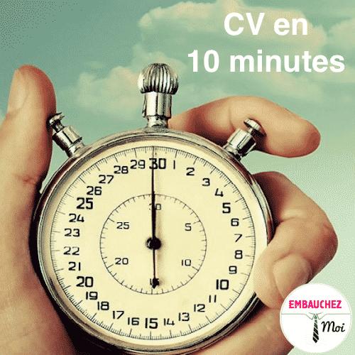 CV 15 changements en moins de 10 minutes
