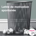 Lettre de motivation pour candidature spontanée